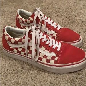 Vans Red Checkered Shoes